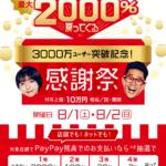 今日と明日最大2000%還元のpaypayでご購入いただけます!